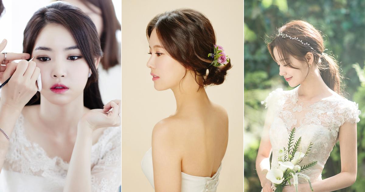 modern korean bridal makeup